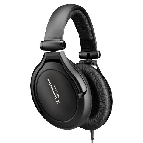 Sennheiser Collapsible Over-the-Ear Headphones (HD380PRO) with Carrying Case - Black