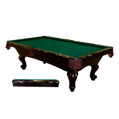 8' Slate Pool Table with Cherry Finish