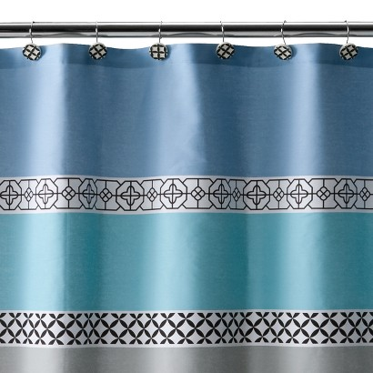 "Madrid Shower Curtain - Blue/Black (72x72"")"