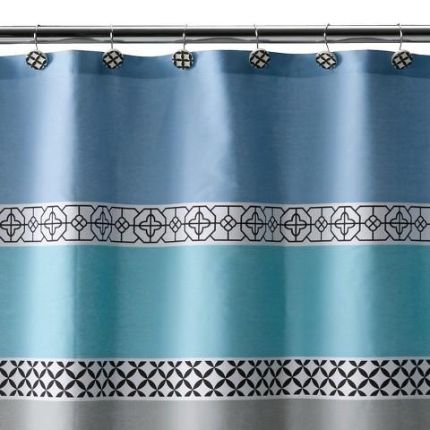 Madrid Shower Curtain - Blue/Black