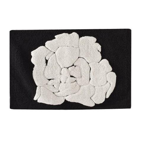 Http Www Target Com P Floral Bath Rug Black White 21x34 A 12825610