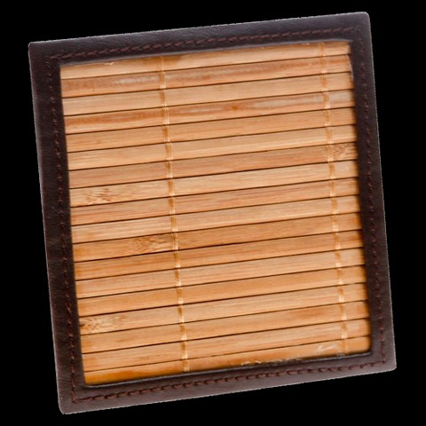 Bamboo Coasters with Holder - Set of 4