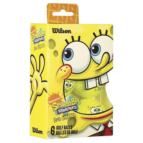 Wilson SpongeBob Golf Ball - Yellow (6 Pack)