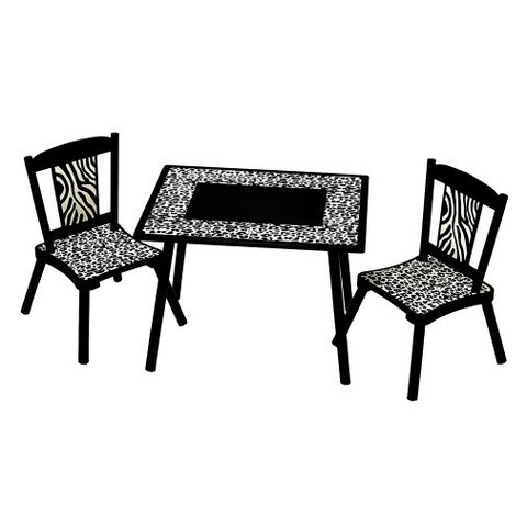 Levels of Discovery Black Wild Side Table & 2 Chair St