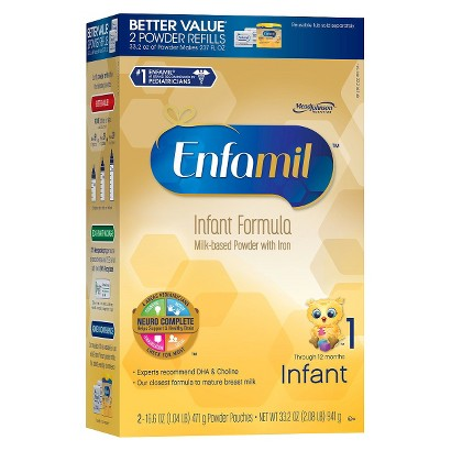 Enfamil PREMIUM Infant Formula Powder Refill Box - 33.2 oz. (4 Pack)