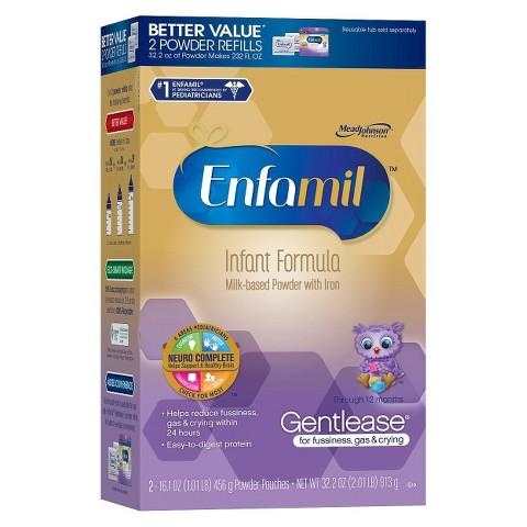 Enfamil Gentlease Infant Formula Powder Refill Box - 32.2 oz. (4 Pack)