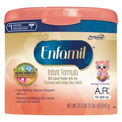 Enfamil A.R. Infant Formula Powder Tub - 21.5 oz. (4 Pack)