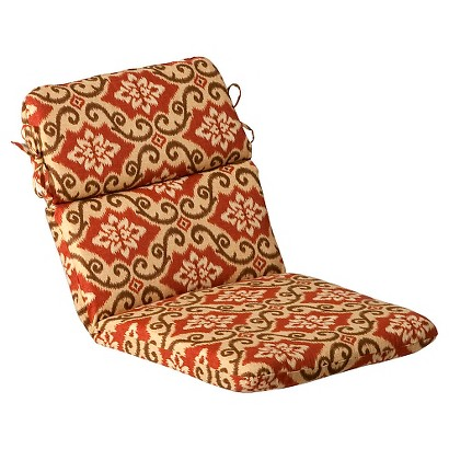 Outdoor Chair Cushion - Tan/Orange Geometric