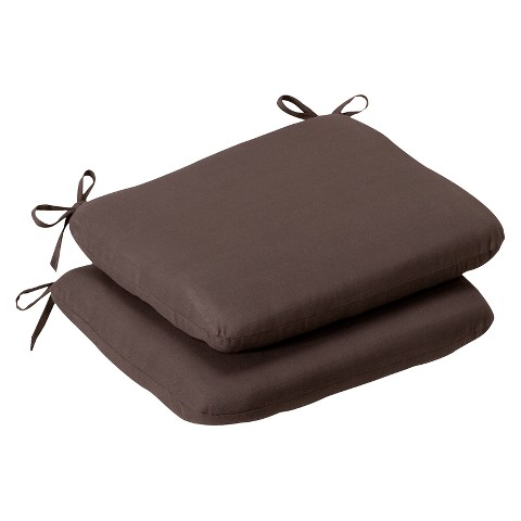 Outdoor 2-Piece Chair Cushion Set - Brown