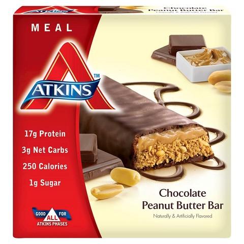 Atkins Chocolate Peanut Butter Meal Bar - 5 Count