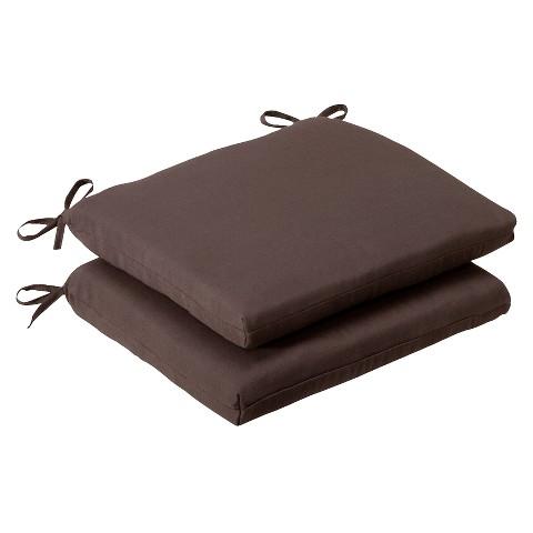 Outdoor 2-Piece Chair Cushion Set - Brown
