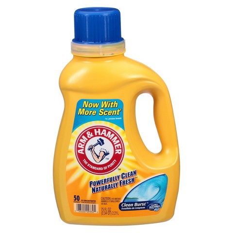 Arm & Hammer Liquid Laundry Detergent Clean Burst 50 Loads 75 oz