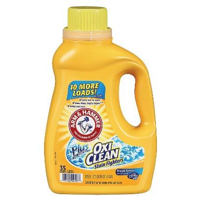 Arm & Hammer Plus OxiClean Laundry Detergent Fresh Scent 35 Loads 62.5 oz