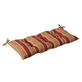 Outdoor Cushion & Pillow Collection - Tan/Red Stripe
