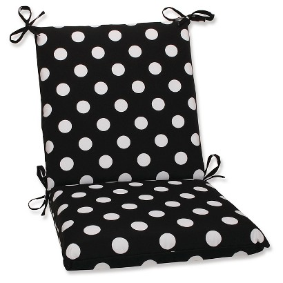 Outdoor Cushion & Pillow Collection - Black/White Polka Dot