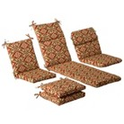 Outdoor Cushion & Pillow Collection - Tan/Ora...