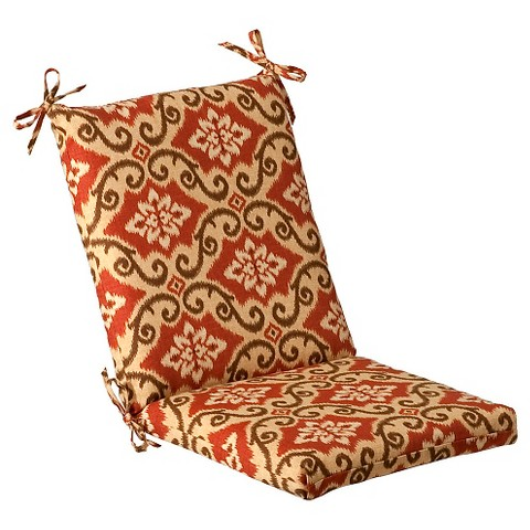 Outdoor Conversation/Deep Seating Cushion - Tan/Orange Geometric
