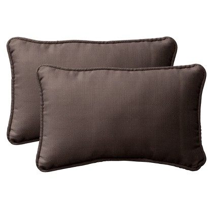 2-Piece Outdoor Toss Pillow Set - Brown 18""