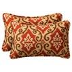 "2-Piece Outdoor Toss Pillow Set - Southwestern Tan/Orange Geometric 24"""