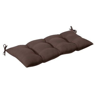 Outdoor Tufted Bench/Loveseat/Swing Cushion - Brown