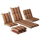 Outdoor Cushion & Pillow Collection - Tan/Red...