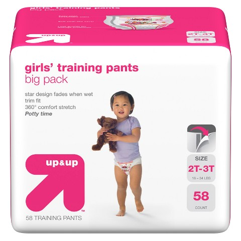 up & up™ Girls' Training Pants - Big Pack (Select Size)