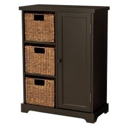 Seabrook Three Tier Storage Unit With Espresso Finish And