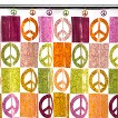 """Peace Out Peva Shower Curtain - 70x72"""""""