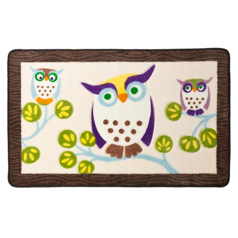 Awesome Owls Bath Rug