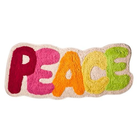 """Peace Out Bath Rug (15""""x36"""")"""