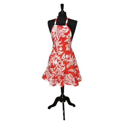 CYPRESS HOME FELICIA APRON - CHILLI RED