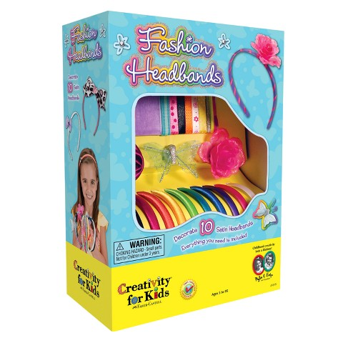 creativity for kids fashion headbands craft kit target. Black Bedroom Furniture Sets. Home Design Ideas