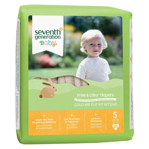 Seventh Generation Free & Clear Baby Diapers - Case (Select Size)
