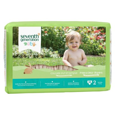 ECOM Seventh Generation Baby Diapers - Size 2 (144 Count)