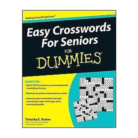 Easy Crosswords for Seniors for Dummies (Paperback)