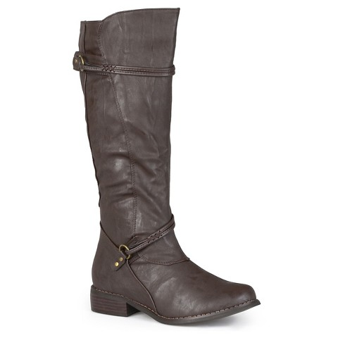 Womens Journee Collection Buckle Accent Boot