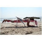 Ostrich 3 In 1 Patio Chaise Lounge Chair - Pink