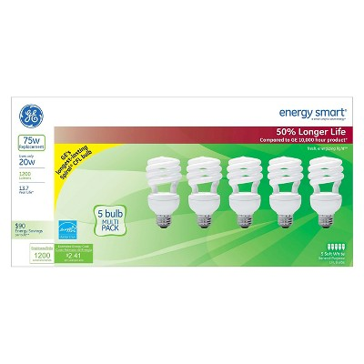GE 75-Watt CFL Light Bulb (5-Pack) - Soft White