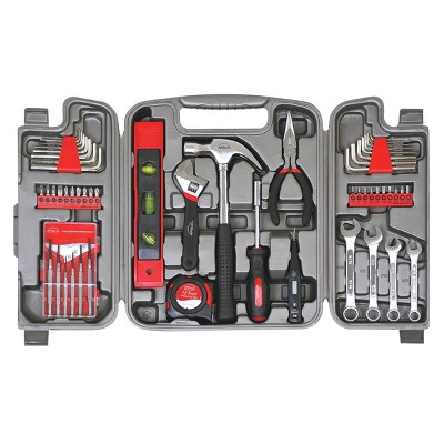 Apollo Red 53 Piece Household Tool Kit