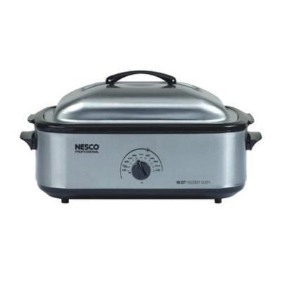 Nesco Professional Porcelain Roaster Oven - Silver (18 Quart)