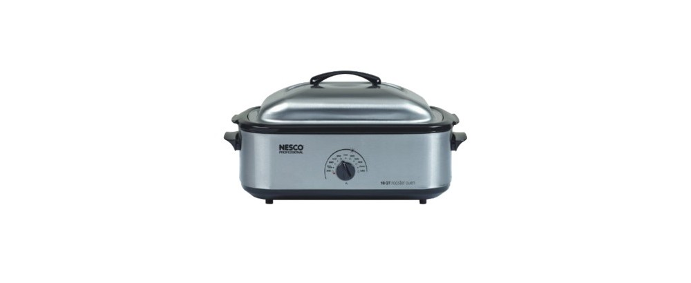 Aroma 18 Quart Stainless Steel Roaster Oven With Enameled
