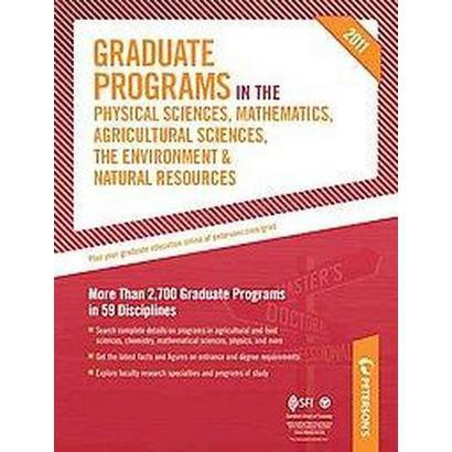 Graduate Programs in the Physical Sciences, Mathematics, Agricultural Sciences, the Environment &