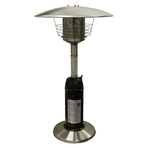 Garden Sun Tabletop Patio Heater - Black and Stainless Steel