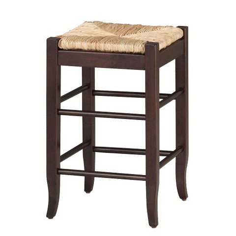Rush Seat Stools - Cappuccino