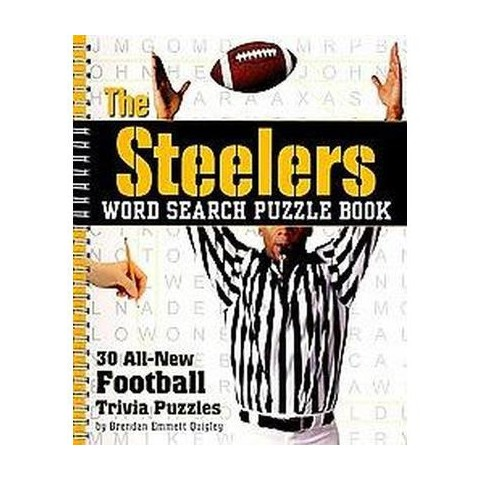 The Steelers Word Search Puzzle Book (Spiral)