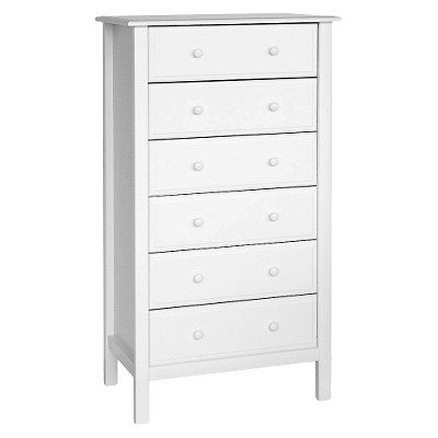 DaVinci Jayden 6-Drawer Tall Dresser - White