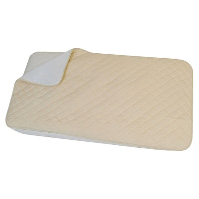 ECOM Royal Heritage Flat Cotton Fitted Crib Pad in Natural