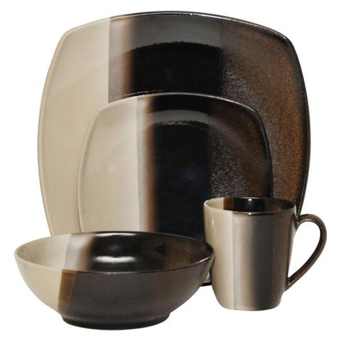 Sango Deco 16-pc. Dinnerware Set - Black