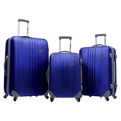 Traveler's Choice Toronto 3pc Spinner Luggage Hardside Navy