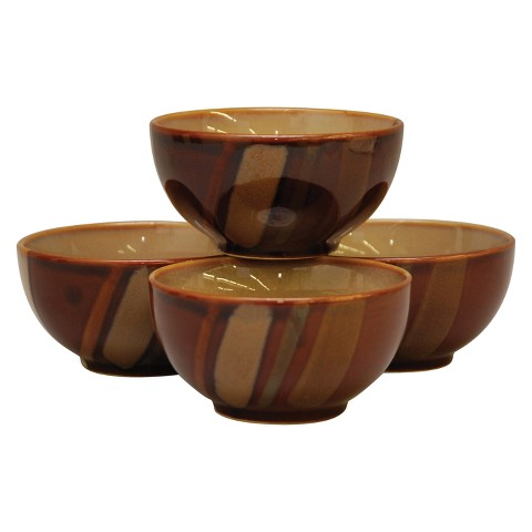 Sango Avanti Brown S/4 Ice Cream Bowls